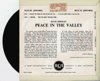 ELVIS PRESLEY Peace In The Valley EP Vinyl Record 7 Inch RCA 1962